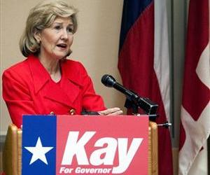 Sen. Kay Bailey Hutchison, R-Texas, addresses the Greater Houston Pachyderm Club Tuesday Jan. 19, 2010 in Houston.
