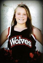 Hailey Dunn, 13, poses for a school photo. She's been missing for three weeks.