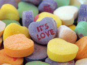 The message one 12-year-old found on her conversation heart was not so sweet.