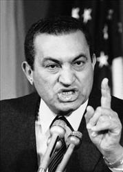 A 1985 file photo of Hosni Mubarak.