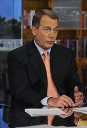 House Speaker Rep. John Boehner, R-Ohio, speaks about the 2012 budget on NBC's Meet the Press Sunday, Feb. 13, 2011.