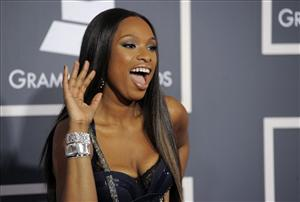 Jennifer Hudson arrives at the 53rd annual Grammy Awards on Sunday, Feb. 13, 2011, in Los Angeles.