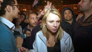 In this Feb. 11, 2011 photo released by CBS, 60 Minutes correspondent Lara Logan is shown covering the reaction in in Cairo's Tahrir Square the day Egyptian President Hosni Mubarak stepped down.