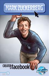 The cover of the Mark Zuckerberg comic from Bluewater Productions.