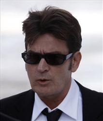 Charlie Sheen arrives at the Pitkin County Courthouse in Aspen, Colo. last year.