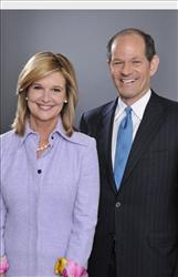Former New York Governor Eliot Spitzer and Kathleen Parker in a publicity photo.