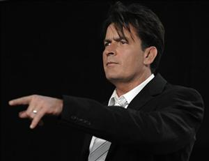 In this Sunday, Aug. 17, 2008 picture, Charlie Sheen poses backstage at the 2008 ALMA Awards in Pasadena, Calif.
