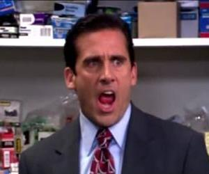 Steve Carell is seen in a scene from The Office in this YouTube screenshot.