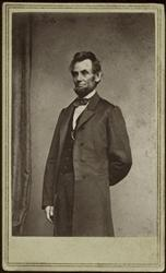 This historical photo provided by the George Eastman House shows Matthew Brady's Jan. 8, 1864 portrait of Abraham Lincoln.