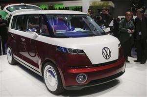 Volkswagen's Bulli concept car is presented during the press day of the 81st International Motor show in Geneva, Switzerland, Tuesday, March 1,  2011.