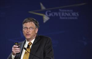 Bill Gates addresses the National Governors Association Winter Meeting in Washington, Monday, Feb. 28, 2011.