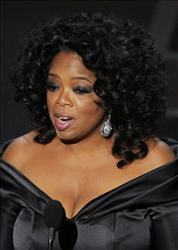 Presenter Oprah Winfrey speaks onstage during the 83rd Annual Academy Awards held at the Kodak Theatre on February 27, 2011 in Hollywood, California.