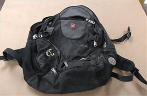 This undated file photo provided by the Federal Bureau of Investigation shows a backpack found along the route of a Martin Luther King Jr. Day parade Jan. 17 in Spokane, Wash.