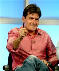 Charlie Sheen attends the panel discussion for 'Two And A Half Men' during the CBS 2005 Television Critics Association Summer Press Tour at the Beverly Hilton Hotel on July 20, 2005.