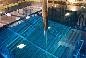 This August 2010 picture  shows a  fuel storage pool inside the Fukushima nuclear complex.