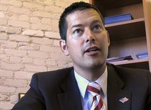 In this June 30, 2010, file photo congressional candidate Sean Duffy is interviewed in Madison, Wis.