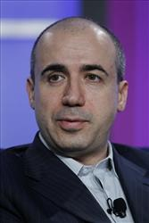 A file photo of Yuri Milner, CEO of Digital Sky Technologies.