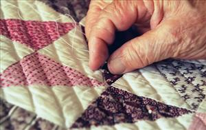 Quilters in Minneapolis have to ease off their donations to veterans for a while.