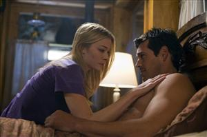 LeAnn Rimes and Eddie Cibrian in the film where they met, Nora Roberts' Northern Lights.