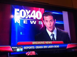 A tweeted picture of Fox's spelling error.