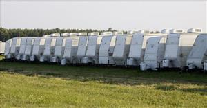 The legendary FEMA trailers, lined up in a 2009 file photo.