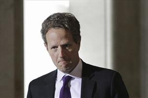 Treasury Secretary Timothy Geithner is shown Monday, May 9, 2011 at the Treasury Department in Washington.