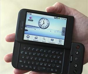 In this 2008 file photo, the T-Mobile G1 Android-powered phone, the first cell phone with the operating system designed by Google Inc., is shown  in New York.