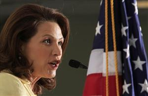 Rep. Michelle Bachmann, R-Minn. speaks during a We the People candidates forum Saturday, April 30, 2011, in Manchester, N.H.