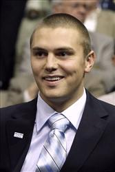 In this Sept. 3, 2008 photo, Track Palin is seen during the Republican National Convention in St. Paul, Minn.