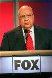 Chairman & CEO, FOX News Roger Ailes speaks onstage during the 2006 Summer Television Critics Association Press Tour for the FOX Broadcasting Company on July 24, 2006 in Pasadena, California.