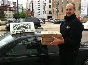 Mitt Romney tweeted, Great deep dish at @ginoseast. Sending the extra slices to @barackobama and his Chicago HQ team.