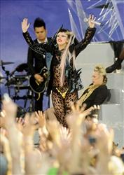 Singer Lady Gaga performs on ABC's 'Good Morning America' in Central Park on Friday, May 27, 2011 in New York.