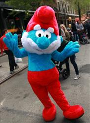 The Smurfs were living in a utopian Nazi society, claims a new book.
