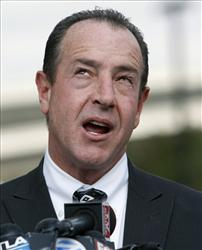 In this Feb. 23, 2011 file photo, Lindsay Lohan's father Michael Lohan, talks to reporters at Los Angeles Superior Court.