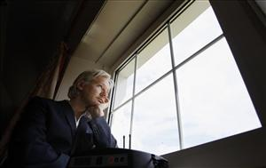 WikiLeaks founder Julian Assange is seen at the house where he is required to stay in, near Bungay, England, Wednesday, June 15, 2011. Assange says his house arrest over sex allegations is hampering the work of the secret-spilling site, and his supporters accuse Britain of spying on him.  The 39-year-old...