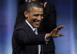 President Obama waves as he prepares to speak at the Austin City Limits Live at the Moody Theater, Tuesday, May 10, 2011, in Austin, Texas.