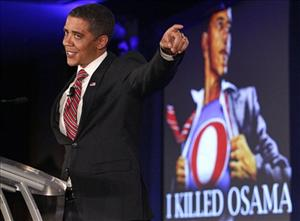 Obama impersonator Reggie Brown performs at the Republican Leadership Conference in New Orleans.