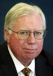 Jerome Corsi, co-author of Unfit For Command, speaks during a news conference at the National Press Club October 14, 2004 in Washington, DC.