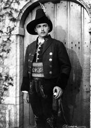 In this Dec. 3, 1936 file picture photo, Archduke Otto von Habsburg poses in the uniform of a captain of the Tyrolean rifleman's regiment.