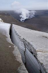 A plume smoke is seen rising from the Grimsvotn volcano in Iceland Wednesday May 25 2011.