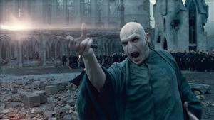 In this film publicity image released by Warner Bros. Pictures, Ralph Fiennes portrays Lord Voldemort in a scene from Harry Potter and the Deathly Hallows: Part 2.