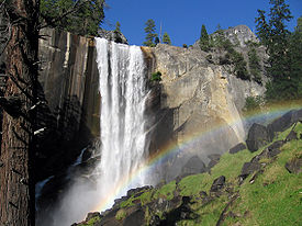 The 137-foot Vernal Fall in Yosemite National Park.