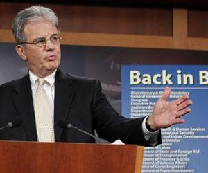 Sen. Tom Coburn, R-Okla., reveals his Back in Black plan to reduce the federal deficit, Monday, July 18, 2011, during a news conference on Capitol Hill in Washington.