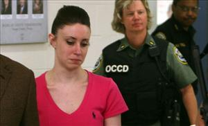 Casey Anthony leaves the Orange County Jail last weekend.
