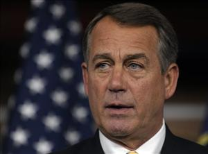 House Speaker John Boehner speaks a news conference on Capitol Hill in Washington, Thursday, July 21, 2011.