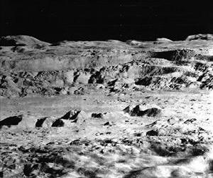 This 1967 from Lunar Orbiter 2 was dubbed the picture of the century when it was taken. It shows an oblique view of the Copernicus crater.