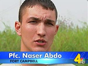 This undated frame grab handout image provided by WSMV in Nashville shows Pfc. Naser Abdo.