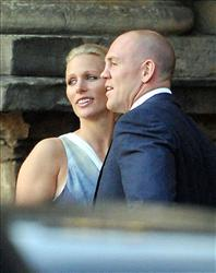 Zara Phillips and Mike Tindall arrive back at the Palace of Holyroodhouse in Edinburgh  Scotland,  Friday, July 29, 2011.