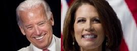 Joe Biden and Michele Bachmann