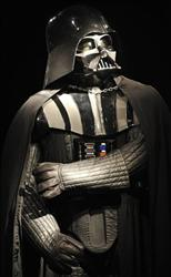 An Oct. 27, 2010 file photo shows a Darth Vader costume at Christie's in London.